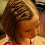 Hairstyles for short hair girl Hands at work
