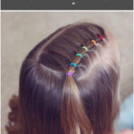 """Angie Smith on Instagram: """"Rainbow elastic style! Just wanted to share one more style with you today! This one is so so easy...classic toddler hairstyle! ❤️🧡💛💚💙💜"""""""