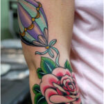 Flower to the Hot Air Balloon - Tattoos for Women