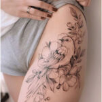 Bird and flowers by Darylis Tattoo - Tattoos for Women