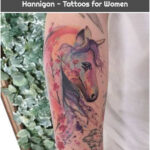 Unicorn and Cherry Blossoms by Jess Hannigan - Tattoos for Women