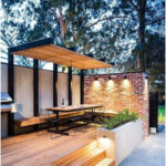 Pergola with metallic structure. #Pooled #External Area