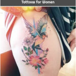 Bird and flowers by Jess Hannigan - Tattoos for Women