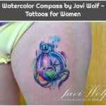 Watercolor Compass by Javi Wolf - Tattoos for Women