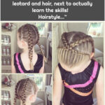 """Beth Belshaw on Instagram: """"Abby has decided at age six she want to be a gymnast. So she got the leotard and hair, next to actually learn the skills! 😋😆 Hairstyle…"""""""