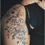 Flowers and owl by Valery Tattoo - Tattoos for Women