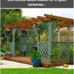 This ground-level deck with pergola and lattice sides makes for a quiet conversa...