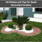 40 Photos and Tips for Small Decorated Gardens