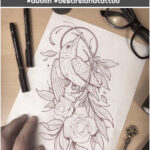 """Santi Bord on Instagram: """"free design for tomorrow, birds flora and insects are my favorite thing to draw 💛✍🏻 #dublintattoo #dublin #bestirelandtattoo"""""""