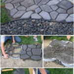 Make a stone path for your garden, very easy! - Let's do it