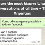 These are the most bizarre WhatsApp conversations of all time - TKM Argentina