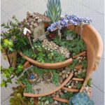 Learn how to build a garden for the fairies with the broken pots