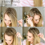 I've been seeing this stacked fishtail and mini braid combined in all ...