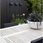 Maintenance-free garden Maintenance-free garden in a terraced house