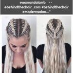 """Los Angeles Colorist on Instagram: """"Happy Friday! More Khaleesi braids for the best hair model ever @aamandalamb 👑 • • @behindthechair_com #behindthechair @modernsalon…"""""""