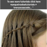 """I teach you how to comb with braids on Instagram: """"Waterfall braid with a simple braid !!! Very easy. To see more tutorials click here #pequeinadostutorials # trenzacascada… """""""