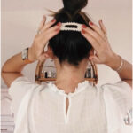 A few easy ways I like to wear the new hair clip | barrette trend