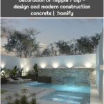 Design of small patios with pool modern pools: ideas, images and decoration of filippis / dip - design and modern construction concrete | homify