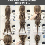 Have you ever imagined that a triple braid looked so cute? Follow the p ...
